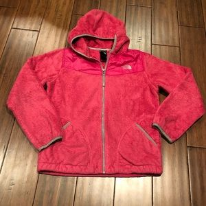 The North Face girls Oso fuzzy jacket size L 14/16